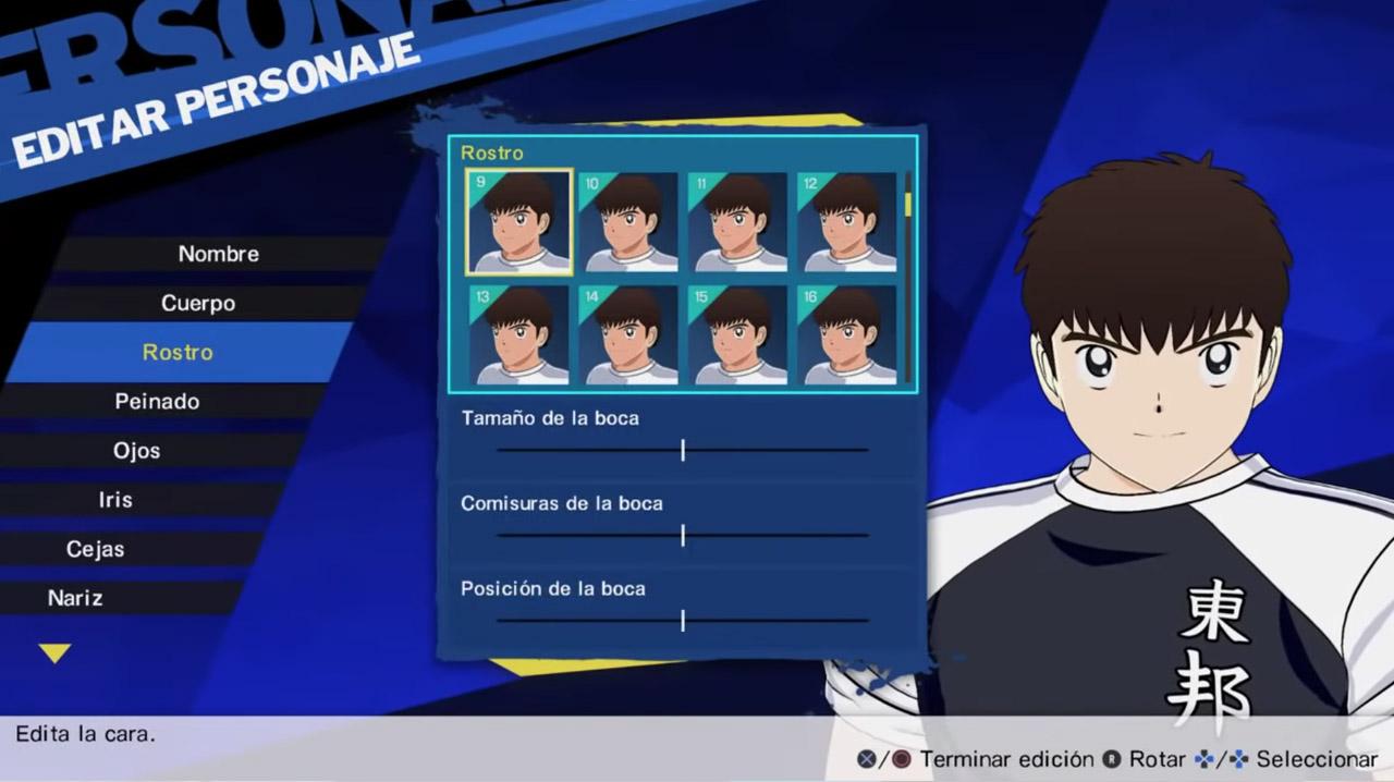 Captain Tsubasa: Rise of New Champions Editar Personaje