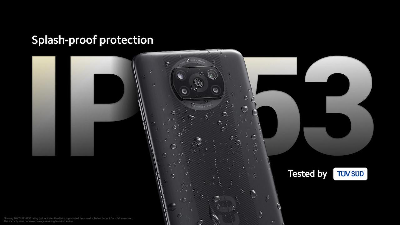 Xiaomi POCO X3 NFC Splash-proof
