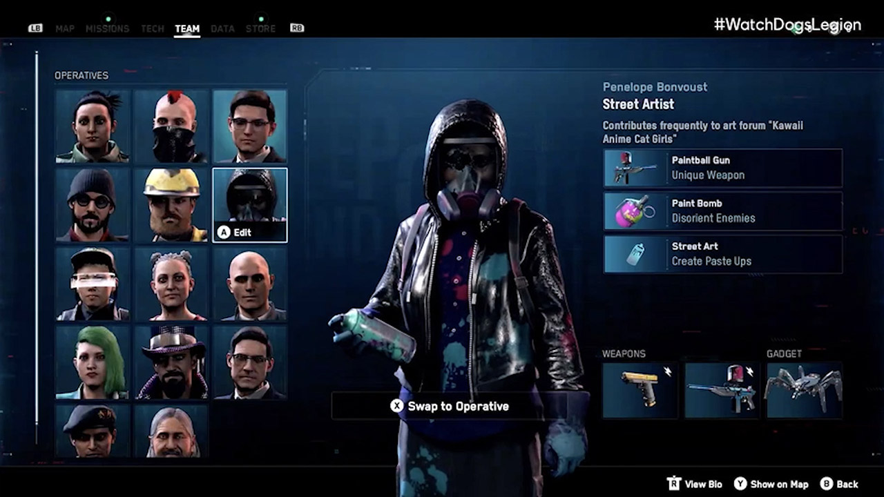 Watch Dogs Legion Agents