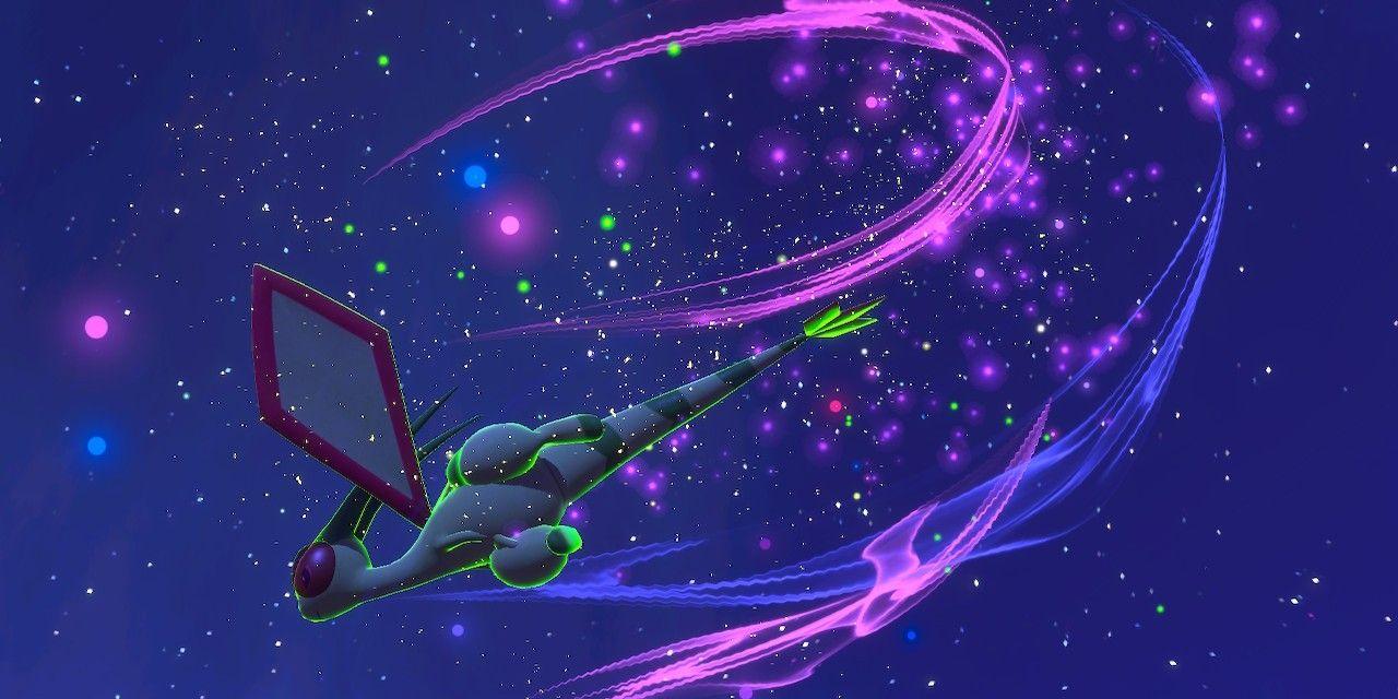 Flygon Space Sky Night Stars New Pokémon Snap