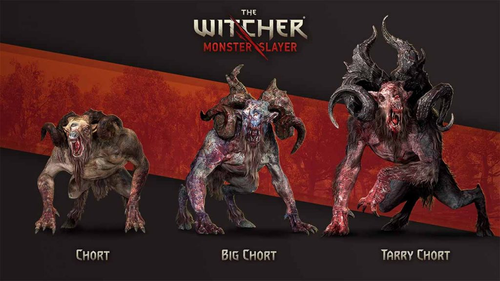 chort the witcher monster slayer