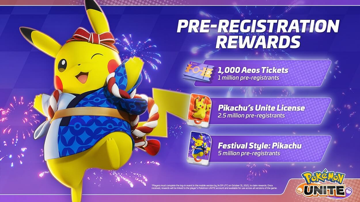 Pokémon Unite Pikachu Recompensa PreRegistro