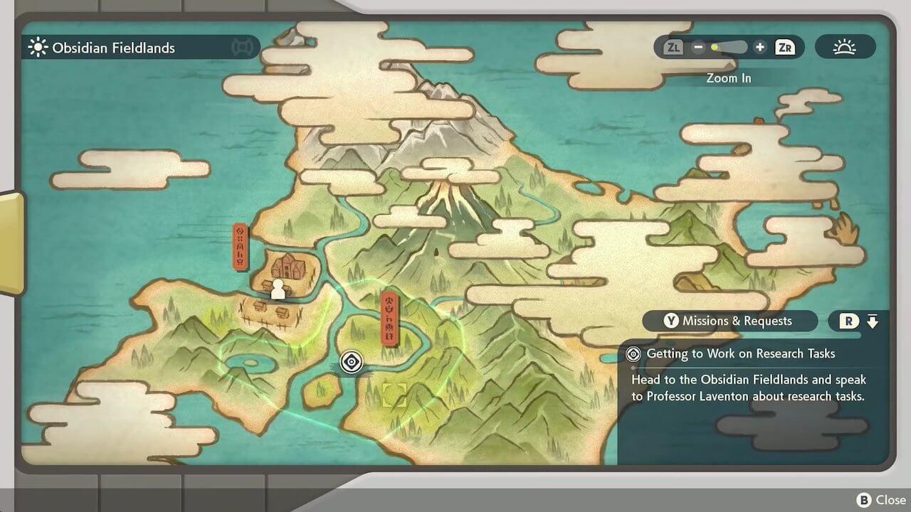 Pokémon Legends Arceus Areas Open World