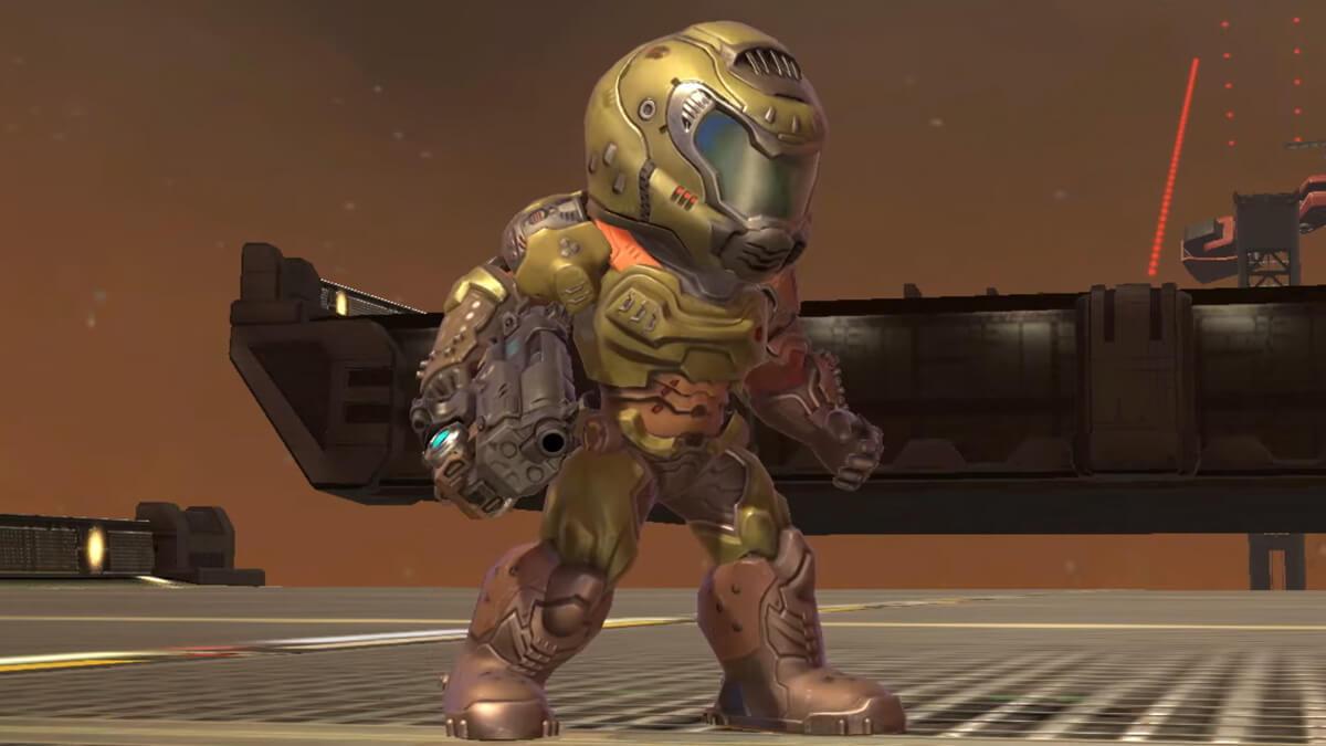 Smash Ultimate Doom Slayer Mii
