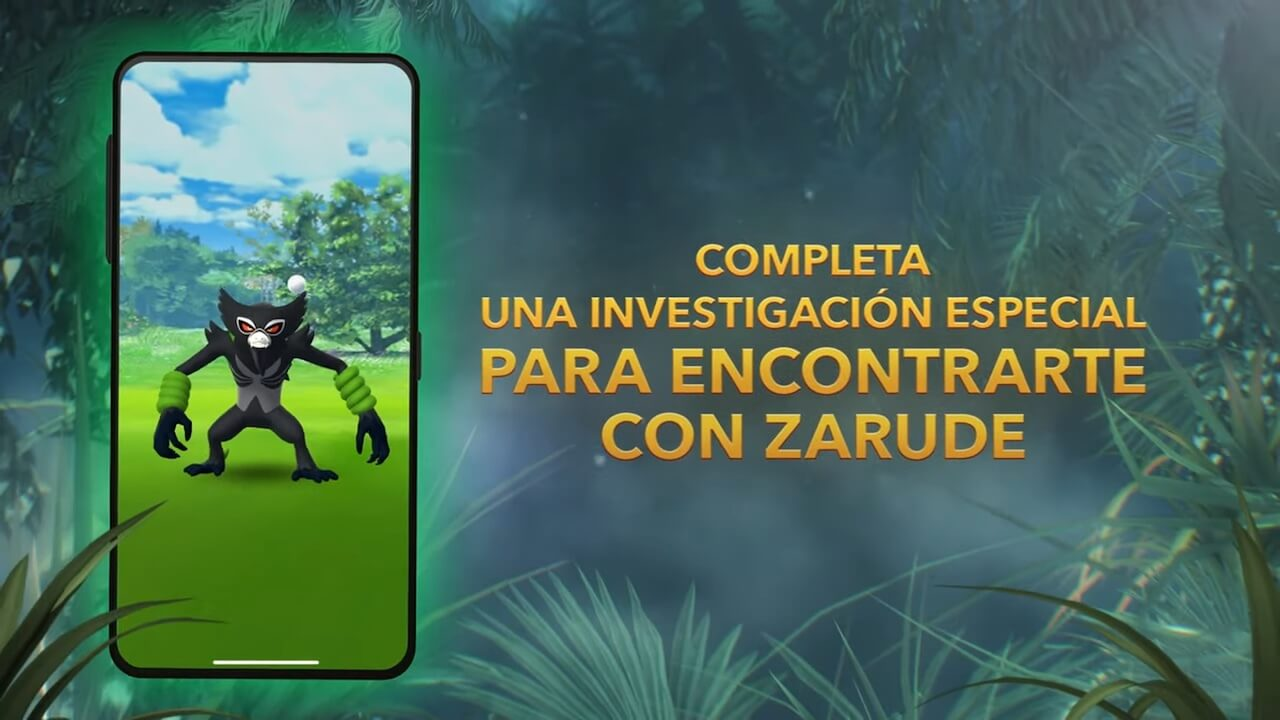 Zarude Pokémon Go Investigación Especial